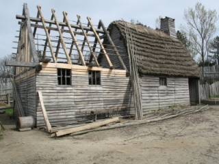 Reconstructed house at Plimoth Plantation, Plymouth, MA