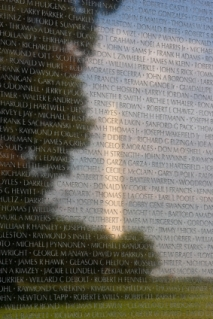 Washington Monument Reflection in Vietnam Memorial