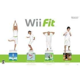 Four activities of Wii Fit (photo courtesy of Amazon)
